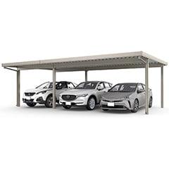 カーポートSW 1500タイプ 3台用 横連棟(1台+2台)<車3台>