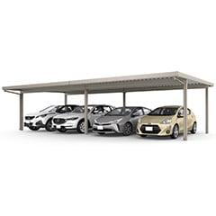 カーポートSW 1500タイプ 4台用 横連棟(2台+2台)<車4台>